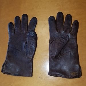 Coach brown leather gloves. Size small/medium